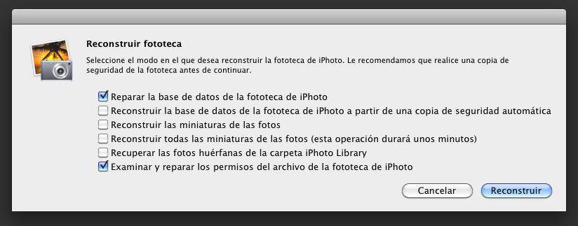 ¿Se te cuelga iPhoto? Reconstruye tu fototeca