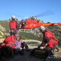 Rescate de bomberos en helicóptero de la Pedriza